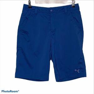 MENS Puma Shorts Blue Flat Front Pockets size 30